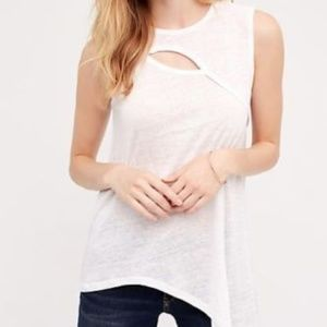 Anthropologie Left of Center Vittoria cut out tank